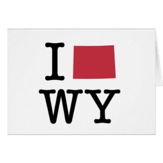 Amo Wyoming Tarjeta De Felicitación