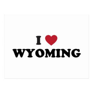 Amo Wyoming Tarjeta Postal