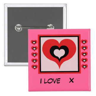 Amo X Pin Cuadrado