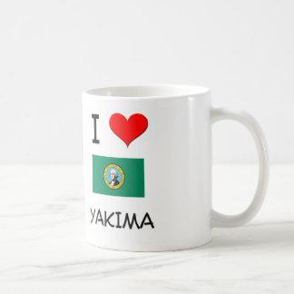 Amo Yakima Washington Taza Básica Blanca