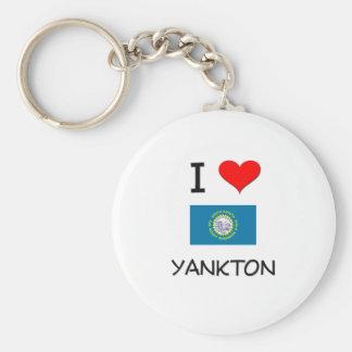 Amo Yankton Dakota del Sur Llavero Redondo Tipo Pin