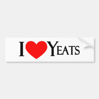 Amo Yeats Etiqueta De Parachoque