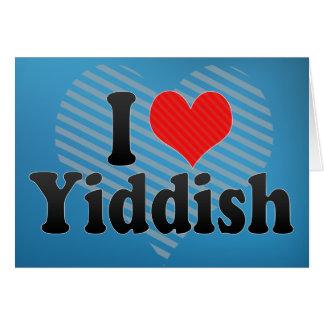 Amo Yiddish Tarjeta De Felicitación