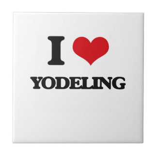 Amo Yodeling Azulejo Cuadrado Pequeño