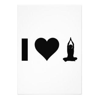 Amo yoga anuncio personalizado