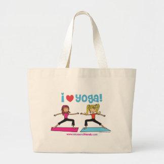 Amo yoga bolsa de tela grande