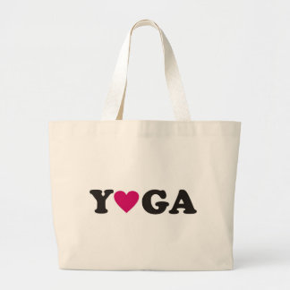 Amo yoga bolsa lienzo