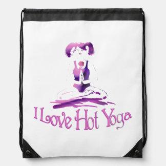¡Amo yoga caliente! - Chica/rosa de la yoga Mochila