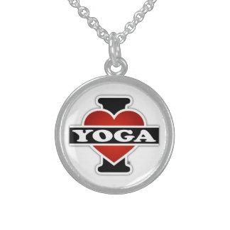 Amo yoga collar de plata esterlina