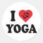 Amo yoga etiquetas