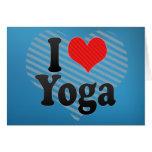 Amo yoga felicitación