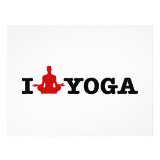 "Amo yoga folleto 8.5"" x 11"""