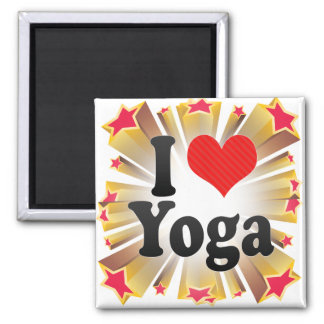 Amo yoga imán de nevera