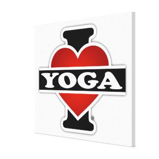 Amo yoga impresión de lienzo