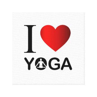 Amo yoga impresión en lona estirada