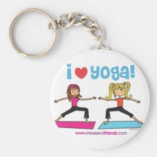 amo yoga llavero redondo tipo pin