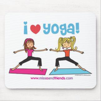 amo yoga alfombrillas de ratón