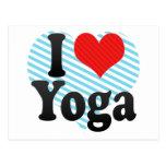 Amo yoga tarjetas postales
