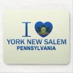 Amo York nueva Salem, PA Alfombrilla De Ratón