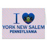 Amo York nueva Salem, PA Tarjeta