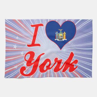Amo York, Nueva York Toallas De Mano