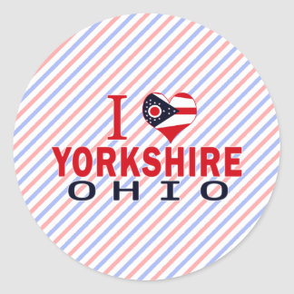 Amo Yorkshire Ohio Pegatina