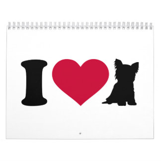 Amo Yorkshire Terrier Calendarios De Pared