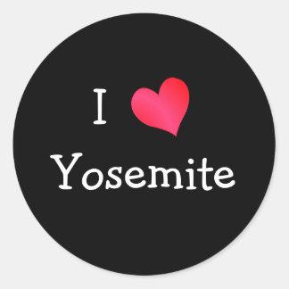 Amo Yosemite Pegatina Redonda