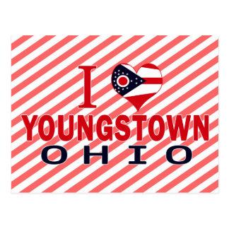 Amo Youngstown, Ohio Tarjeta Postal