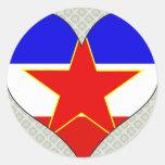 Amo Yugoslavia Pegatinas Redondas