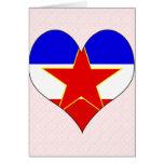 Amo Yugoslavia Tarjeton