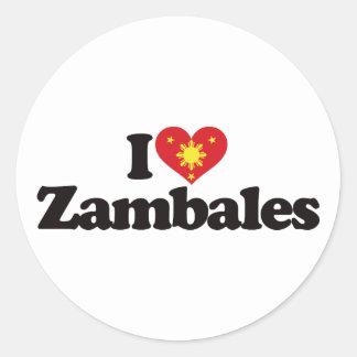 Amo Zambales Pegatina Redonda