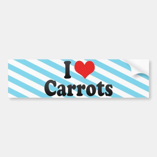 Amo zanahorias pegatina para auto