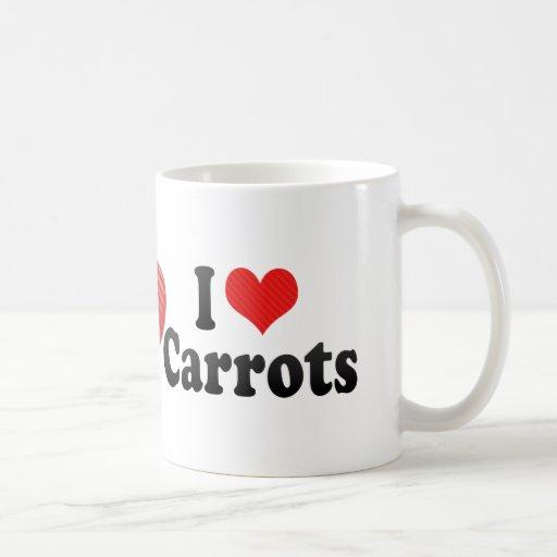 Amo zanahorias tazas de café