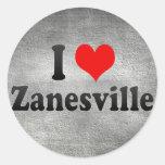 Amo Zanesville, Estados Unidos Etiquetas Redondas