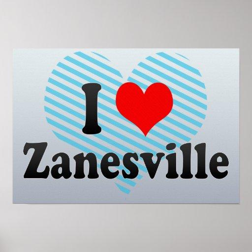 Amo Zanesville, Estados Unidos Posters