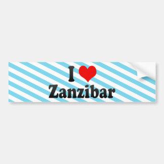 Amo Zanzíbar, Tanzania Pegatina De Parachoque