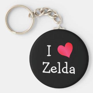 Amo Zelda Llavero Redondo Tipo Pin