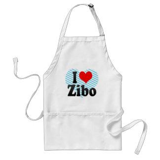 Amo Zibo, China. Wo Ai Zibo, China Delantal