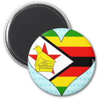Amo Zimbabwe Imán Redondo 5 Cm