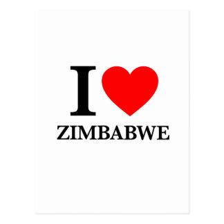 Amo Zimbabwe Tarjetas Postales