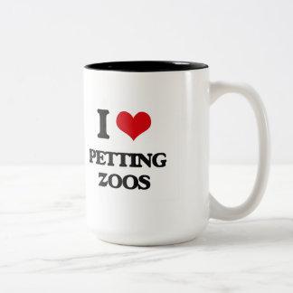 Amo zoo-granja taza dos tonos