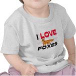 Amo zorros camisetas