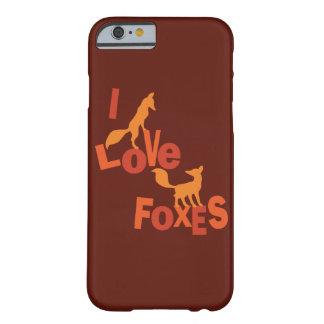 Amo zorros funda de iPhone 6 barely there