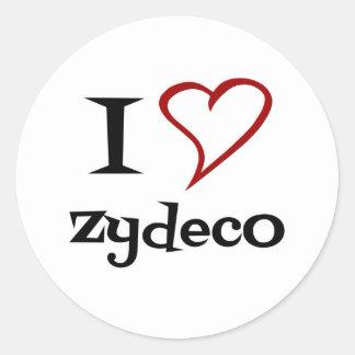 Amo Zydeco Pegatina Redonda