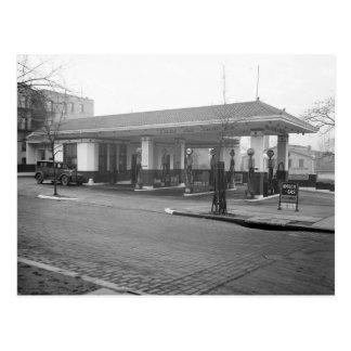 Amoco Gas Station, 1925 Postcard