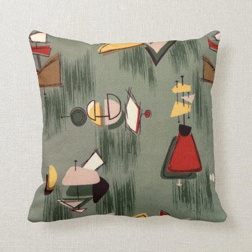 AMOEBA 5 MoJo GREY GREEN Pillow