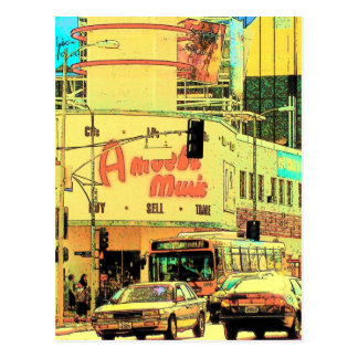 Amoeba on Sunset  - Postcard
