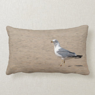 Amohada Gull in the beach - Fuerteventura M1 Throw Pillow