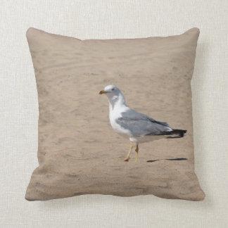 Amohada Gull in the beach - Fuerteventura M2 Throw Pillows